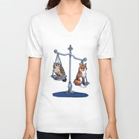lawyer V-neck T-shirts featuring The Law by Elisa Gandolfo