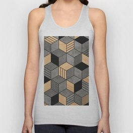 Concrete and Wood Cubes 2 Unisex Tank Top