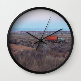 Pastel Sunsets in the Desert, Plus Truck Wall Clock