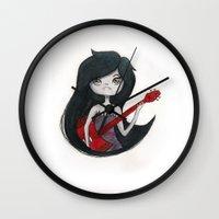 marceline Wall Clocks featuring Marceline by Chris Pioli