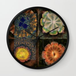 Faciolingual Concrete Flowers  ID:16165-090706-35861 Wall Clock