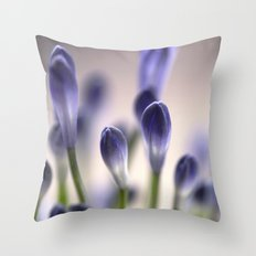 Agapanthus Buds Throw Pillow