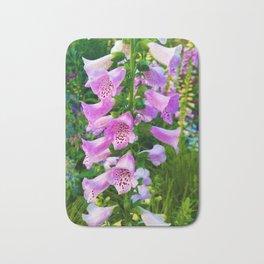 Lovely Purple Flowers Bath Mat