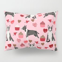 Bull Terrier valentines day love cupcakes hears dog breed pet friendly gifts Pillow Sham