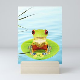 a Frog Mini Art Print
