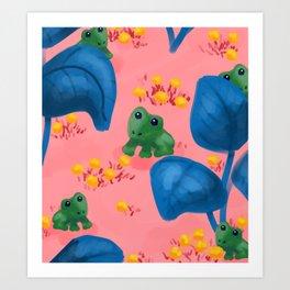 Jungle Frogs Art Print