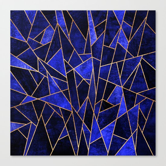 Shattered Sapphire Canvas Print