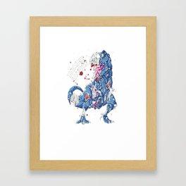 Zombie Saurus T shirt Halloween Kids Dinonsaur T rex Gifts Framed Art Print