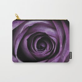 Purple Rose Decorative Flower Carry-All Pouch
