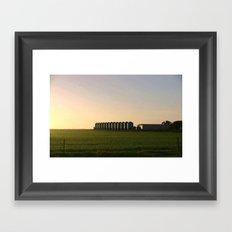 Wheat Silos Framed Art Print