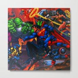 battle of hero Metal Print
