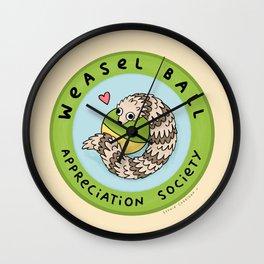 Weasel Ball Appreciation Society Wall Clock