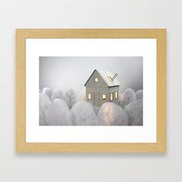 Floating House Framed Art Print