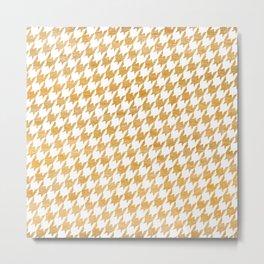 Orange Houndstooth pattern Metal Print