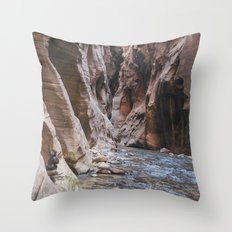Cairn in the Zion Narrows Throw Pillow