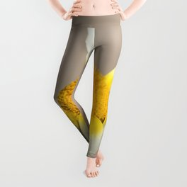 Hippie flower making peace sign Leggings