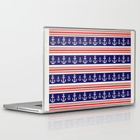 anchors Laptop & iPad Skins featuring anchors by Manoou