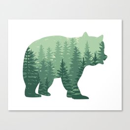 Forest Bear Canvas Print
