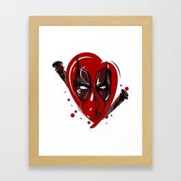 Bloody heart Framed Art Print