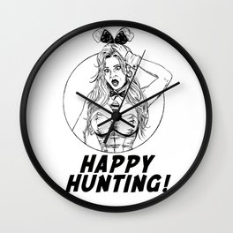 Happy Easter Sexy Bunny Wall Clock