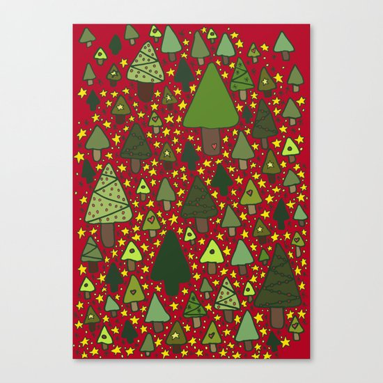 Christmas Tree Wonderland Canvas Print