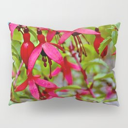 Pink Fuchsia Blossoms Pillow Sham