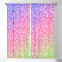 talk about a neon morning doodle, bright Blackout Curtain