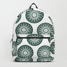 Dark Green Mandala Pattern Backpack