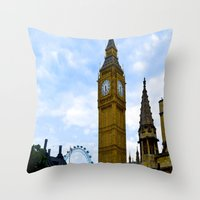 england Throw Pillows featuring London, England by Heather Hartley