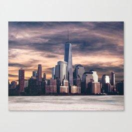 Dramatic City Skyline - NYC Canvas Print