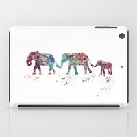 elephant iPad Cases featuring Elephant by Watercolorist