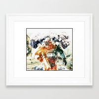 fallout 3 Framed Art Prints featuring Fallout Mechanic Soldier by SuperKingLeo