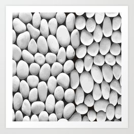 White Stones Background Vector Art Print