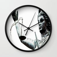 justice Wall Clocks featuring Justice ? by arnedayan