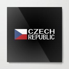 Czech Republic: Czech Flag & Czech Republic Metal Print