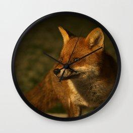 The Wild Red Fox Wall Clock