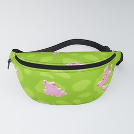 Froggy Frog green peepers Fanny Pack