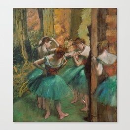 Dancers, Pink and Green by Edgar Degas, 1890 Canvas Print