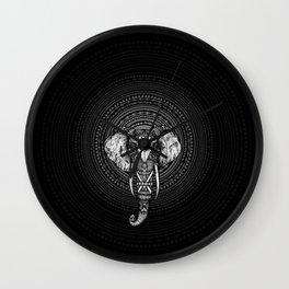 Aztec Circle Elephant Wall Clock