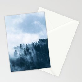 Blue Foggy Rocky Mountains Colorado USA Adventure Stationery Cards