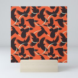 Crows with Ribbon Mini Art Print