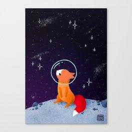Where to next, little Fox? Canvas Print