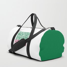 Eat Bacon Funny Quote Duffle Bag