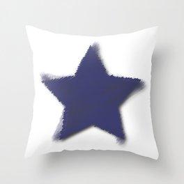 Blue Star Challenger Throw Pillow