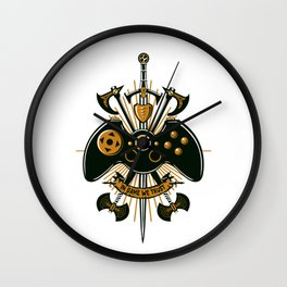 In Game We Trust Wall Clock