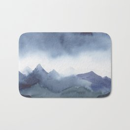 Indigo mountains Bath Mat