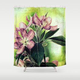 Rustic Dark Pink Flowers Modern Cottage Chic Country Art A139 Shower Curtain
