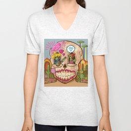 Mexican Skull House Unisex V-Neck