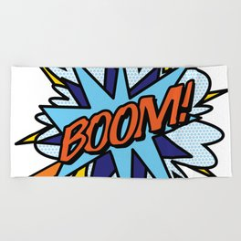 Comic Book Pop Art BOOM Beach Towel