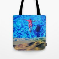 oasis Tote Bags featuring Oasis by John Turck